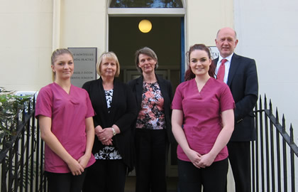 Christiane Paton (middle) with our nurses and receptionist